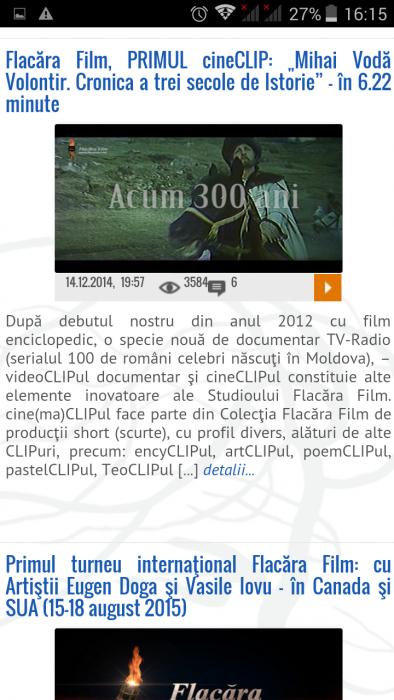FlacaraTV-md pe tel mobil-cineCLIP Mihai Volontir-din 25-12-2015