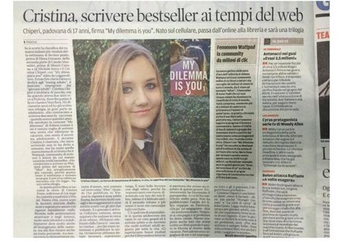 Cristina Chiperi-moldoveanca_scriitoare in Italia-articol ziar-500px