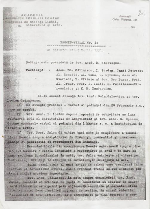 Acad Romana vs mostenire Brancusi-DOC 1 pagina-07-03-1951-700px