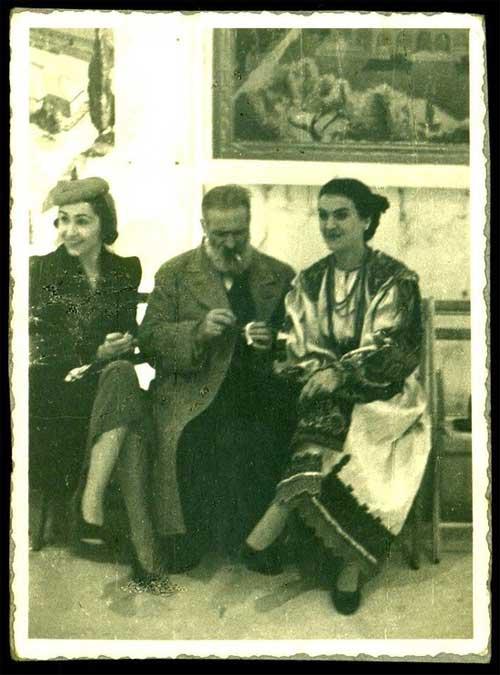 Brancusi-1939- Suzana Doicescu sotia arhitectului Octav Doicescu Brancusi si Maria Tanase