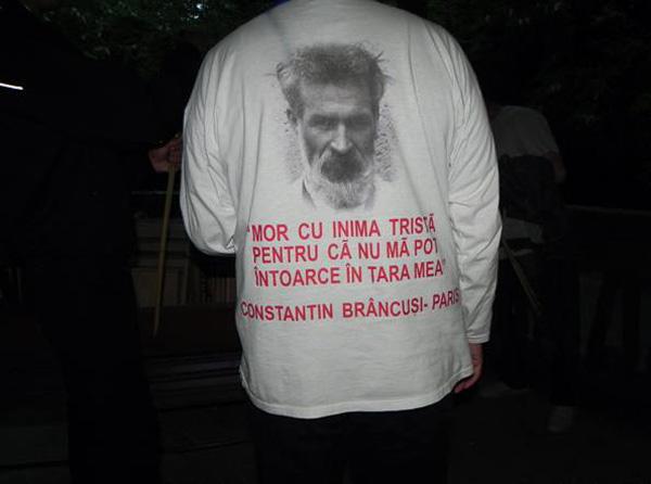 Brancusi despre Tara-inscriptie pe tricou-600px