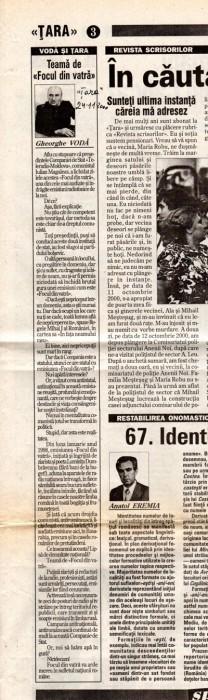 Gheorghe Voda-Teama de Focul din Vatra-articol TARA-24-11-2000-400px