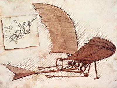 Leonardo da Vinci planeador-da-vinci-400px