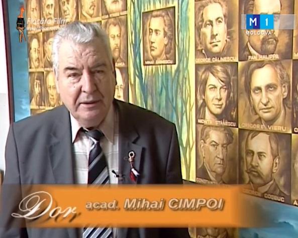 Acad Mihai Cimpoi-eminescolog Chisinau-captura video FlacaraTV-md