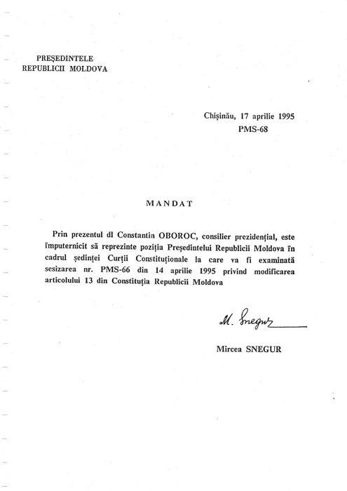 25-04-1995-Oboroc-Snegur-Initiativa Limba Romana in Constitutie-pagina 10-900px