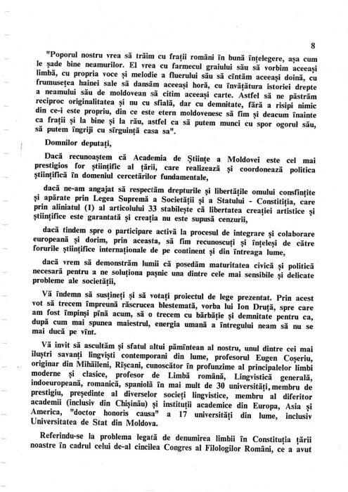 25-04-1995-Oboroc-Snegur-Initiativa Limba Romana in Constitutie-pagina 8-900px
