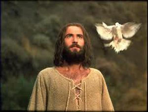Filmul Viata Lui Iisus-actorul principal si porumbelul-Duhul Sfant-300px