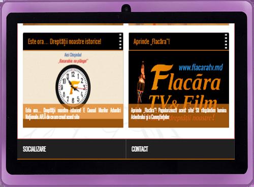 FlacaraTV-md-versiune tablete-LOGO si Ceasul Flacara-lansare 18 aprilie 2016