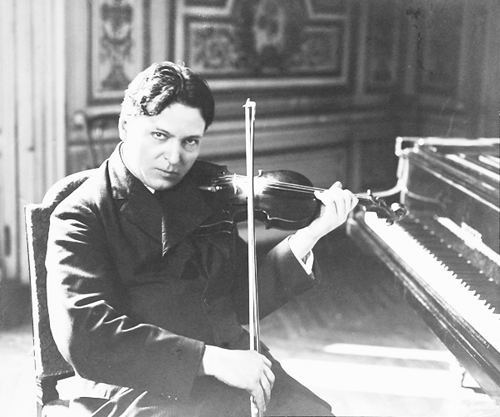 George Enescu la vioara si pian-tanar-500px