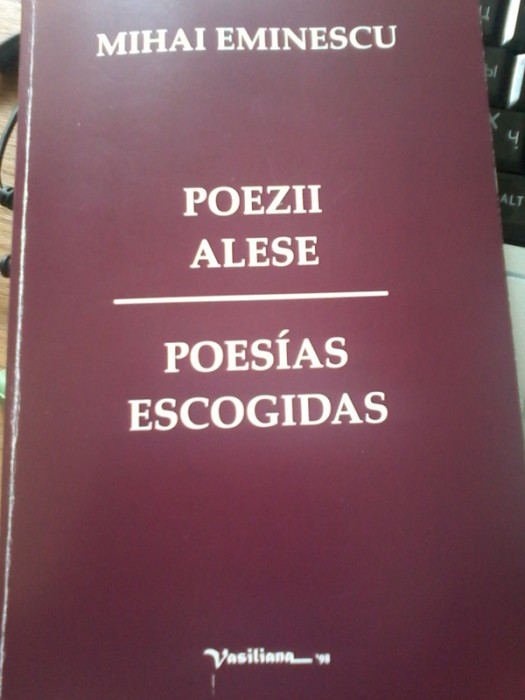 Lansare carte Eminescu in spaniola de Mario Castro Navarrete-COPERTA 1-600px