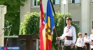 06-07-2016-6 iulie 2016-comemorare deportati Chisinau si Causeni-drapele in berna