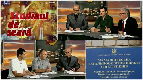 Cernauti-Mamaliga-dezbatere soarta scoli romanesti la TV Bucovina