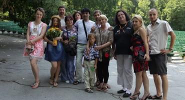 Flacara Film-Teatrul de Vara-filmare videoCLIP-Basarabie nu plange-cu Aurica Basarabeanca-ECHIPA 1-15 august 2014