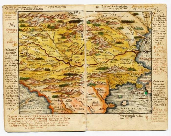 Harta cea mai veche a Romaniei