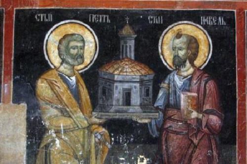 Sf Apostoli Petru si Pavel-impreuna-icoana veche