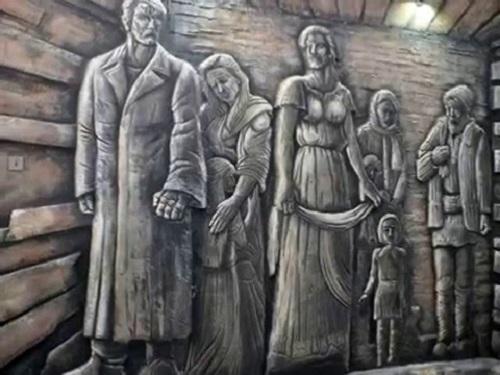 Siberii de gheata-sculptura