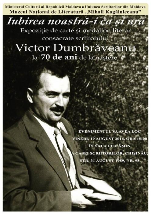 2-Victor Dumbraveanu-Omagiu-poster Muzeu Lit Romane-19 aug 2016