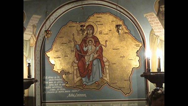 Maica Domnului Maria pe harta Romaniei Mari-600px