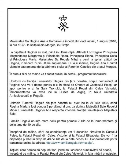 Regina Ana deces-Comunicat oficial 1 aug 2016-TVR-700px