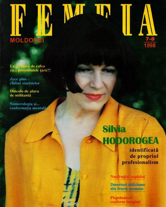 TVM Silvia Hodorogea pe-coperta-femeia-1998 - Copy