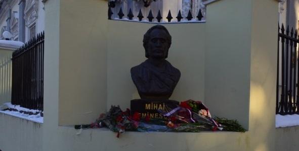 Eminescu omagiat la Odesa-bustul poetului-12 ian 2017