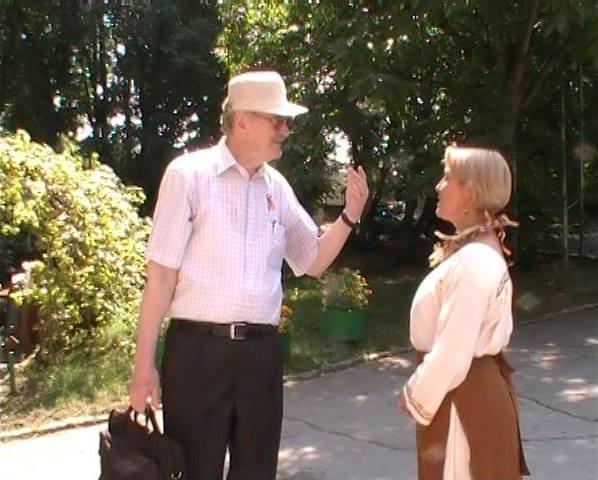 Ion Ungureanu si Aurica Basarabeanca-pe platou filmare videoCLIP Basarabie nu plinge-15 aug 2014