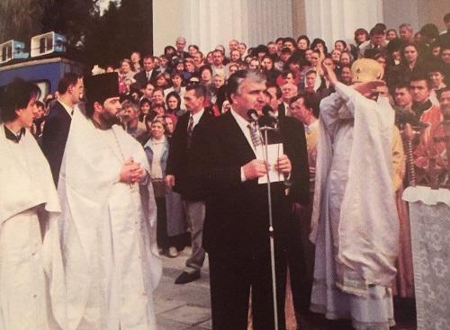1-Serafim Urecheanu la inaugurarea Complexului Catedralei din Chisinau
