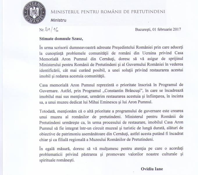 Casa Memoriala Aron Pumnul in ruina-Guvernul roman promite-febr 2017