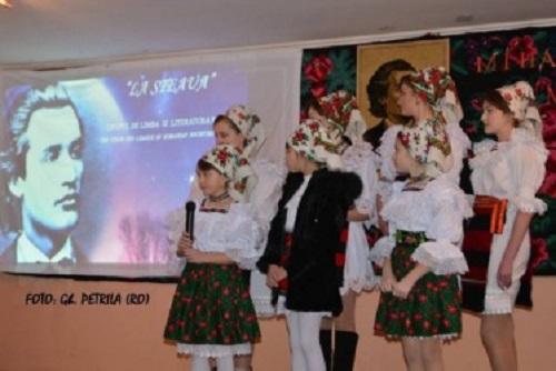 Eminescu omagiat in Transcarpatia-febr 2017