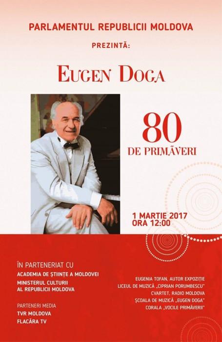 Eugen Doga 80-omagiat la Parlamentul RM-Expozitie Eugenia Tofan-POSTER-1 Martie 2017
