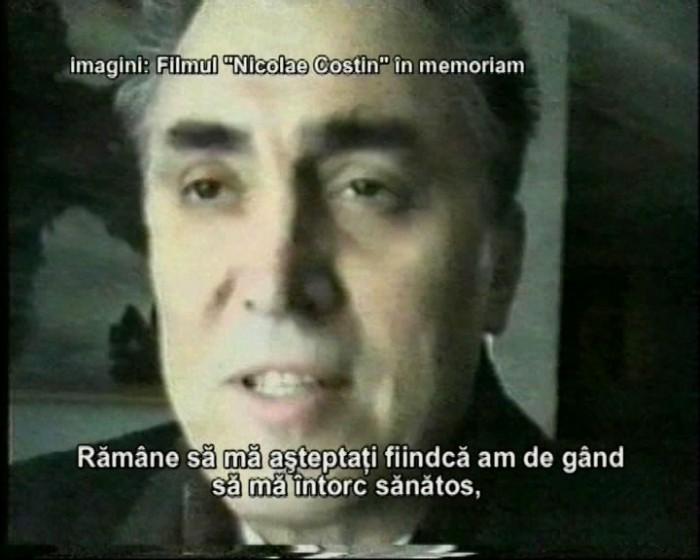 Nicolae Costin-ultima filmare ianuarie 1995-captura din film Victor Bucataru-1