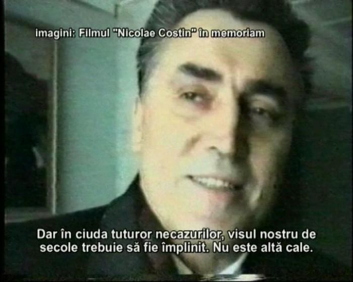 Nicolae Costin-ultima filmare ianuarie 1995-captura din film Victor Bucataru-2