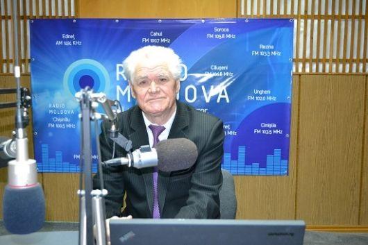 24-03-2017-Prof Ion Melniciuc doctor in filologie la Radio Moldova-foto trm-md