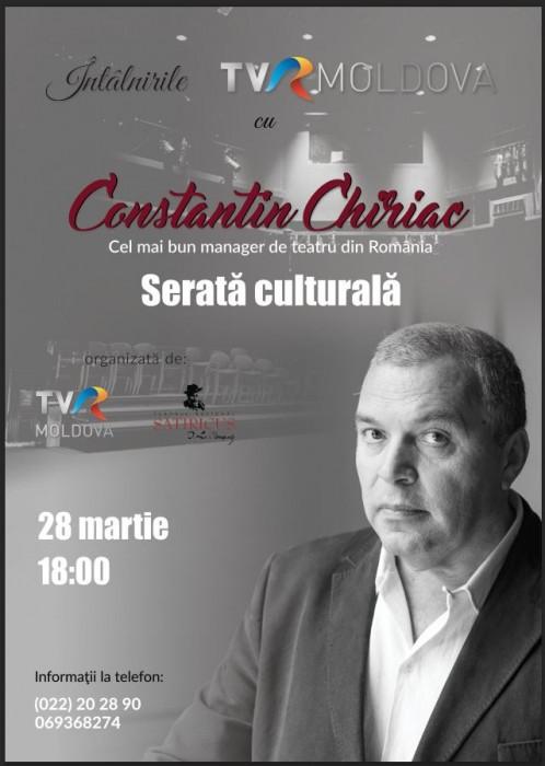 Constantin Chiriac-artist Romania-invitat TVR Moldova-28-03-2017-POSTER