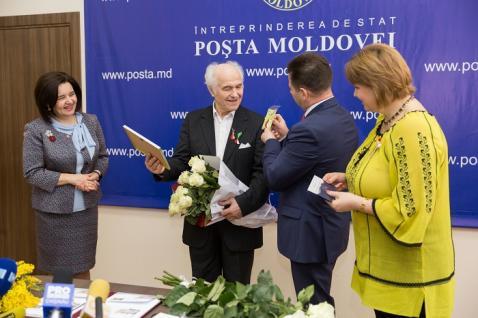 Eugen Doga la lansarea plic Posta Moldovei lansat pe 1 martie 2017