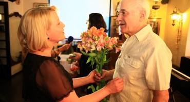 Eugen Doga si Basarabeanca la lansarea cartii Luminitei Dumbraveanu-7 mai 2017