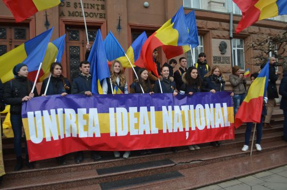 Ziua Unirii 1-manifestare tineri ODIP-Chisinau