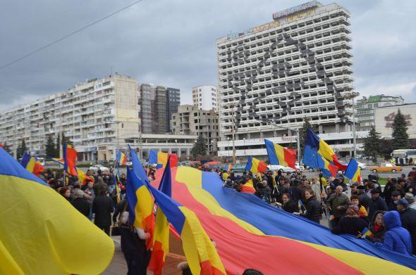 Ziua Unirii 2-manifestare tineri ODIP-Chisinau