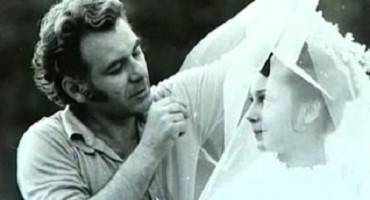Emil Loteanu si viitoarea sa sotie Galina Beliaeva-platou filmari Dulcea si tandra mea fiara-1978