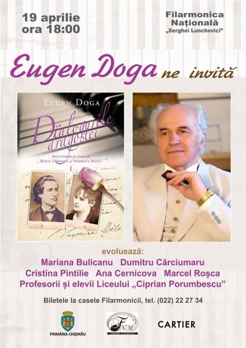 Eugen Doga-cartea de note Dialogurile dragostei-afish