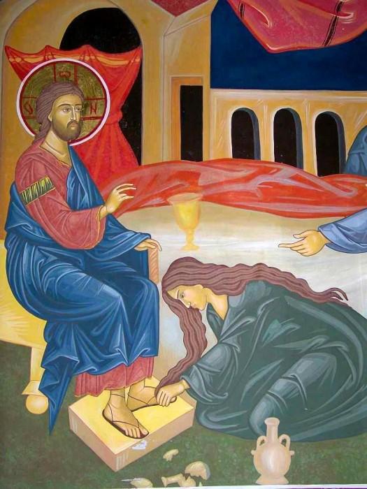 Sfinta Marea Miercuri-Maria sterge picioarele Domnului-doxologia-ro