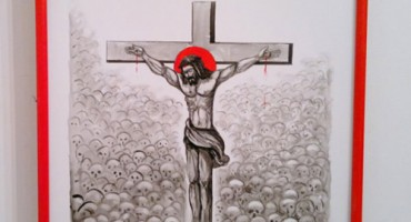 Radu Bercea-pictor-grafician Romania-Hristos rastignit din nou-500px