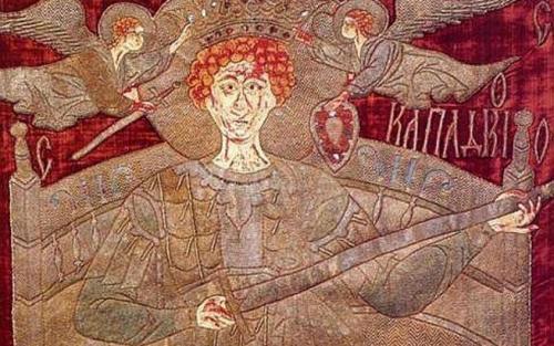 Steagul de lupta a voievodului Stefan cel Mare-Sf Gheorghe partea de sus-500px