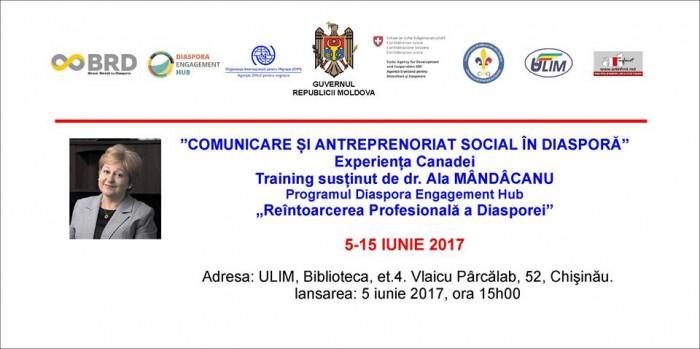 Diaspora-Training de Ala Mindicanu-poster-5-15 iunie 2017