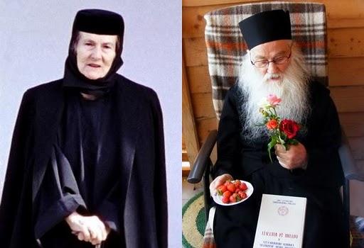 Zoe Dumitrescu Busulenga Maica_Benedicta si Parintele Iustin Parvu-colaj