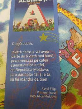 Albinuta lui Grigore Vieru pentru copii Diasporei-mesaj premier Pavel Filip