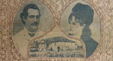 Eminescu si Veronica pe prima pgina a revistei Flacara din 1914 -500px