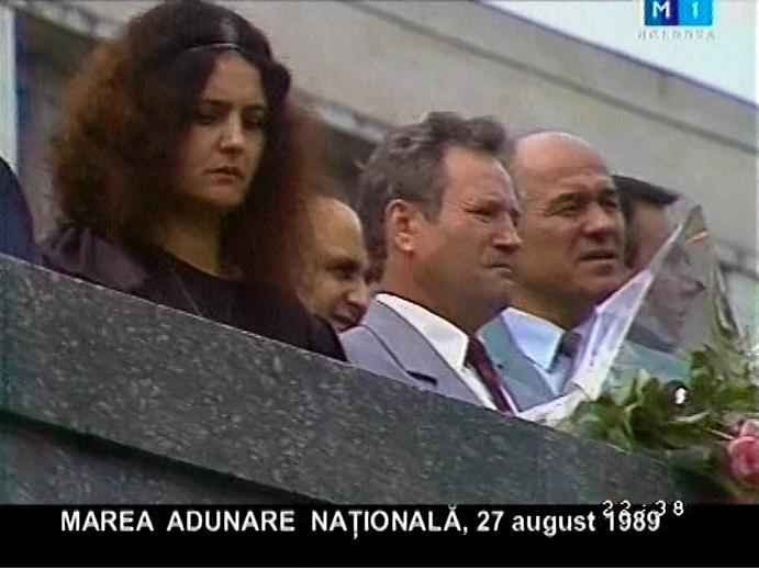 Leonida Lari la Marea Adunare Nationala 27 august 1989-captura Flacara Film