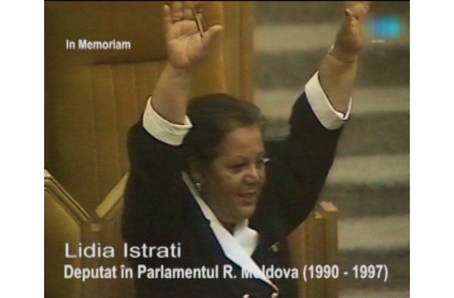 Lidia Istrati-parlamentar-captura video-montaj Flacara Film 2016
