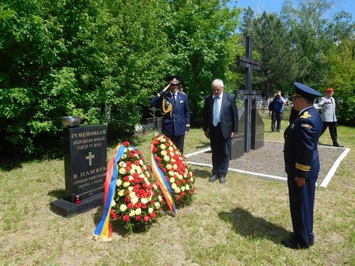 Ostasi romani reinhumati monument romanilor cazuti in Rusia